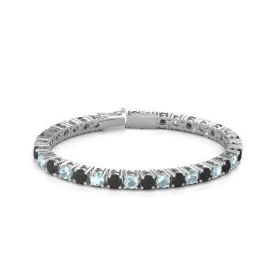 Tennisarmband Ming 750 witgoud zwarte diamant 18.70 crt