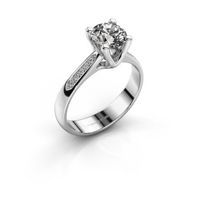 Promise ring Janna 2 585 white gold diamond 1.00 crt