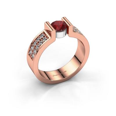 Engagement ring Isabel 3 585 rose gold ruby 5 mm