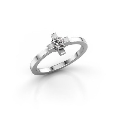 Ring Therese 585 witgoud zirkonia 4.2 mm