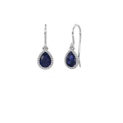 Drop earrings Seline per 925 silver sapphire 7x5 mm