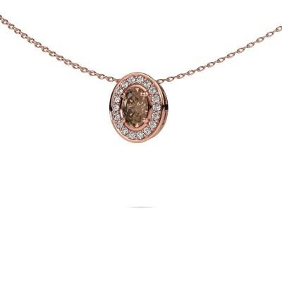 Ketting Madelon 375 rosé goud bruine diamant 0.680 crt