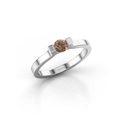 Foto van Verlovingsring Jodee 585 witgoud bruine diamant 0.50 crt