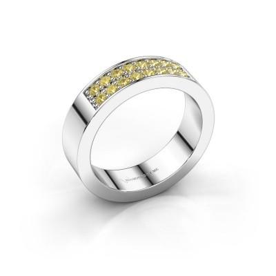 Aanschuifring Catharina 5 925 zilver gele saffier 1.7 mm
