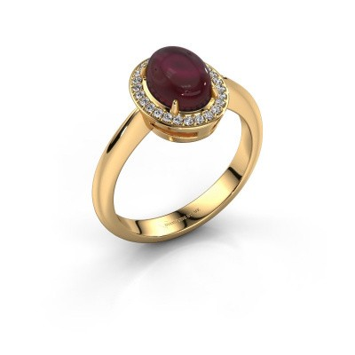 Ring Kristian 585 Gold Granat 8x6 mm