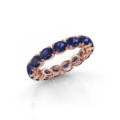 Ring Vivienne OVL 4.5x3.5 375 rosé goud saffier 4.5x3.5 mm