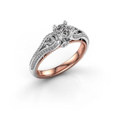 Foto van Verlovingsring Nikita 585 rosé goud diamant 0.57 crt
