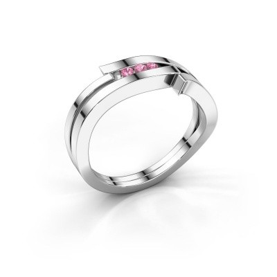 Ring Amelie 585 white gold pink sapphire 1.7 mm