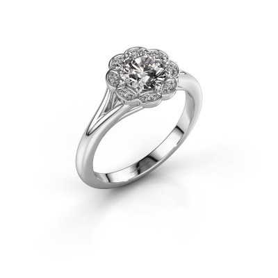 Engagement ring Claudine 585 white gold diamond 0.84 crt