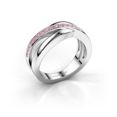 Foto van Ring Colette 585 witgoud roze saffier 1.3 mm