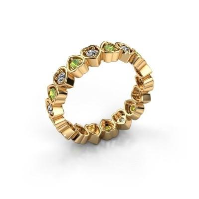 Stackable ring Pleun 585 gold peridot 2 mm
