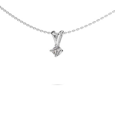 Picture of Necklace Jannette 585 white gold lab-grown diamond 0.20 crt