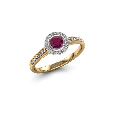 Engagement ring Noud 2 RND 585 gold rhodolite 4 mm