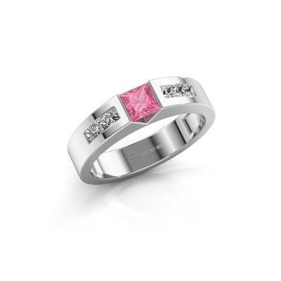 Foto van Verlovings ring Arlena 2 925 zilver roze saffier 4 mm