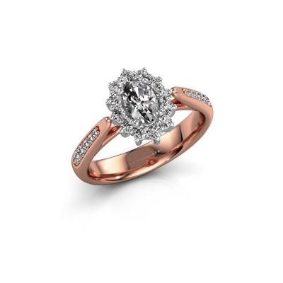 Verlovingsring Margien 2 585 rosé goud diamant 0.50 crt