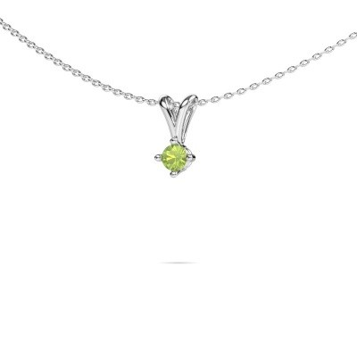 Picture of Necklace Jannette 950 platinum peridot 3.7 mm