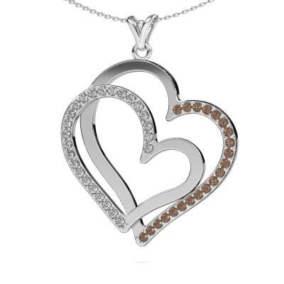 Halsketting Cathy 925 zilver bruine diamant 1.15 crt