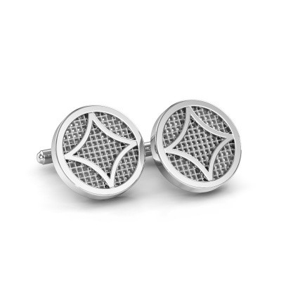 Picture of Cufflinks Jesper 585 white gold