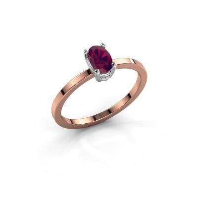 Foto van Ring Lynelle 1 585 rosé goud rhodoliet 6x4 mm