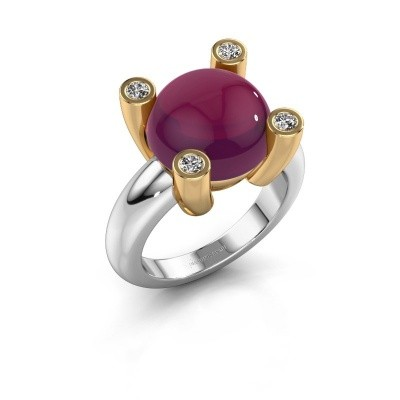 Picture of Ring Janice RND 585 white gold rhodolite 12 mm
