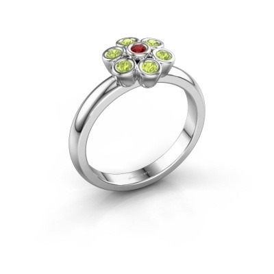 Ring Aaliyah 925 silver ruby 2 mm