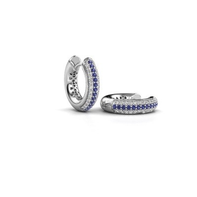 Picture of Hoop earrings Tristan B 14 mm 585 white gold sapphire 1 mm