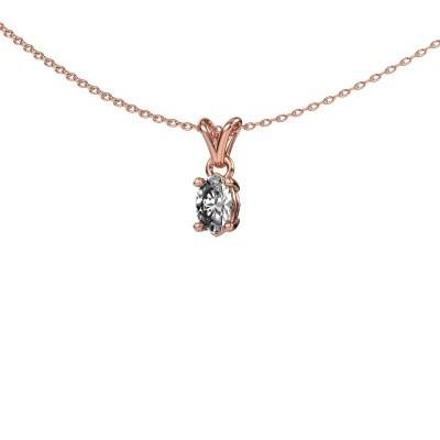 Ketting Lucy 1 375 rosé goud diamant 0.50 crt