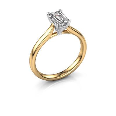 Verlovingsring Mignon eme 1 585 goud diamant 0.90 crt