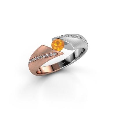 Foto van Ring Hojalien 2 585 rosé goud citrien 4 mm