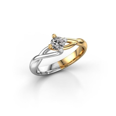 Foto van Ring Paulien 585 goud diamant 0.30 crt