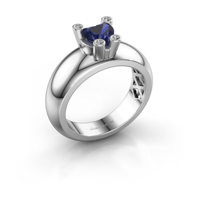 Ring Cornelia Heart 585 white gold sapphire 6 mm