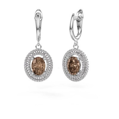 Foto van Oorhangers Karren 585 witgoud bruine diamant 2.94 crt