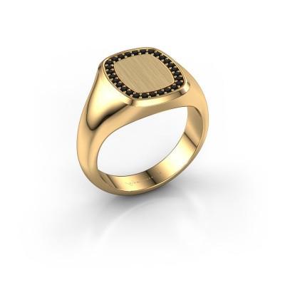 Foto van Ring Dalia Cushion 2 585 goud zwarte diamant 0.009 crt