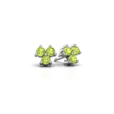 Picture of Stud earrings Shirlee 925 silver peridot 3 mm