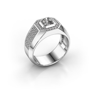Heren ring Pavan 375 witgoud zirkonia 5 mm