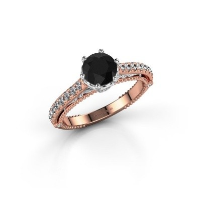 Photo de Bague de fiançailles Venita 585 or rose diamant noir 1.645 crt