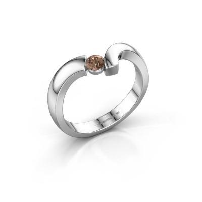 Ring Arda 925 zilver bruine diamant 0.15 crt