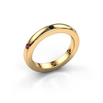 Aanschuifring Charla 585 goud zwarte diamant 0.108 crt