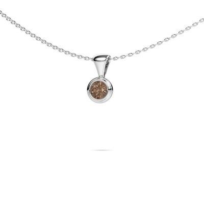 Foto van Ketting Lieke 950 platina bruine diamant 0.25 crt
