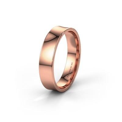 Trouwring WH2100M 375 rosé goud ±5x1.5 mm
