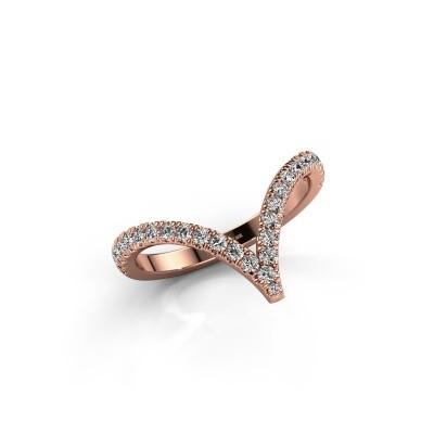 Ring Mirtha 375 rose gold zirconia 1.5 mm