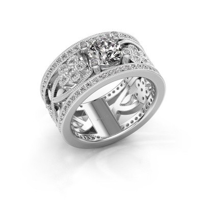 Foto van Ring Severine 950 platina diamant 1.405 crt