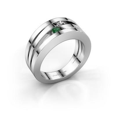 Foto van Ring Valerie 925 zilver smaragd 2.7 mm