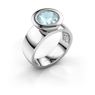 Ring Maxime 925 silver aquamarine 8 mm