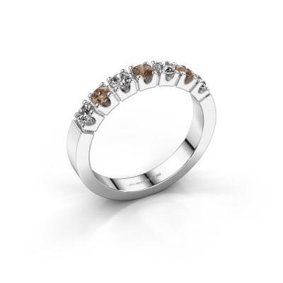 Foto van Verlovingsring Dana 7 950 platina bruine diamant 0.56 crt