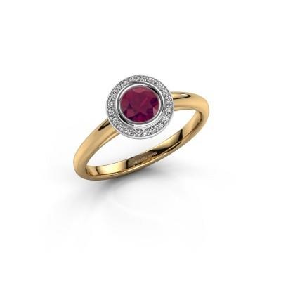Promise ring Noud 1 RND 585 goud rhodoliet 4.7 mm