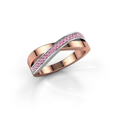 Foto van Ring Kaley 585 rosé goud roze saffier 1.2 mm