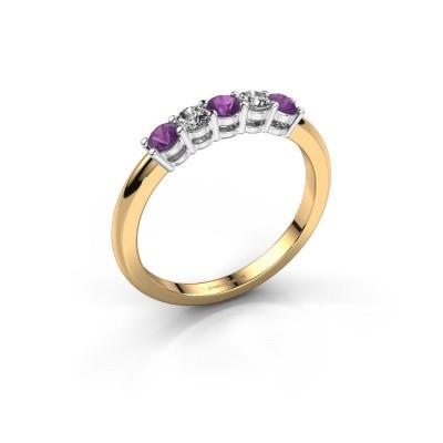 Foto van Promise ring Michelle 5 585 goud amethist 2.7 mm