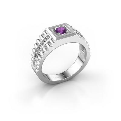 Men's ring Maikel 925 silver amethyst 4.2 mm