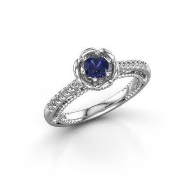 Picture of Engagement ring Abbey 585 white gold sapphire 4.2 mm